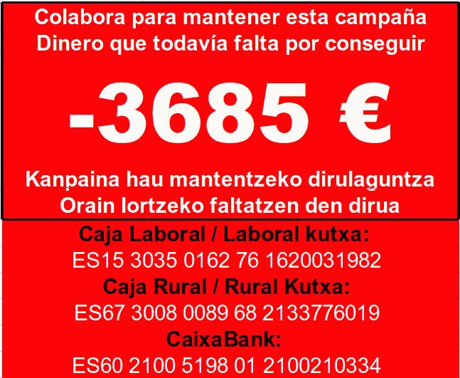 Kanpaina honekin lagun gaitzazu / Ayúdanos con estacampaña