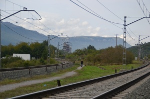 Puente y apeadero de Altsasu. Previsto el desdoblamiento de la vía.