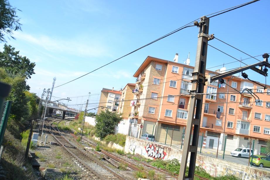 Entrada a la estación de Pamplona-Iruñea.