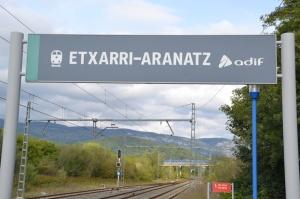 Estación de Etxarri-Aranatz. En funcionamiento.