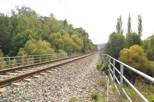 Puentes sobre la carretera y el Río Arga en el Polígono Industrial de Landaben de Pamplona-Iruñea.