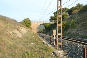 Puente junto a Etxarren, Arakil. En el puente no se dejo paso para el desdoblamiento.