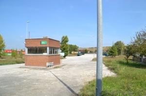Entrada de la Terminal de Mercancías de Noain.
