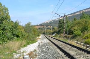 Puente de la carretera a Valdizarbe, cerca de Biurrun-Campanas. Previsto desdoblamiento de la vía a la izquierda.