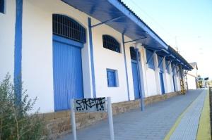 Estación de Tafalla. En funcionamiento.