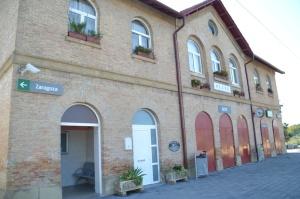 Estación de Olite. En funcionamiento.