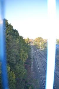 Estación de Marcilla. En funcionamiento. Espacio a la izquierda.
