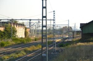 Estación de Marcilla. En funcionamiento. Espacio a la derecha.